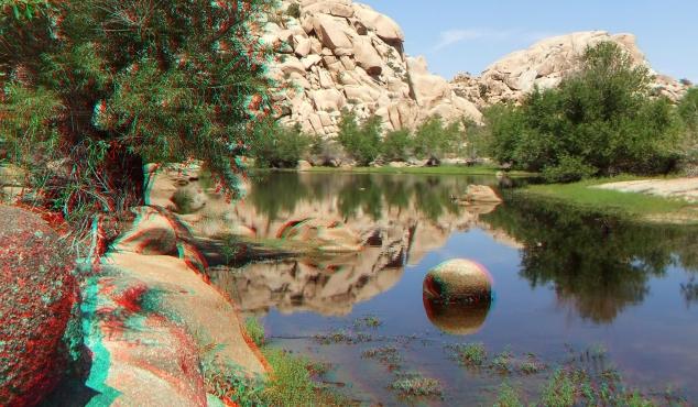 Barker Dam Joshua Tree NP 3D Anaglyph DSCF5581