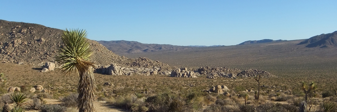 Squaw Tank and Pleasant Valley viewed from the Balanced Rock at Malapai Hill