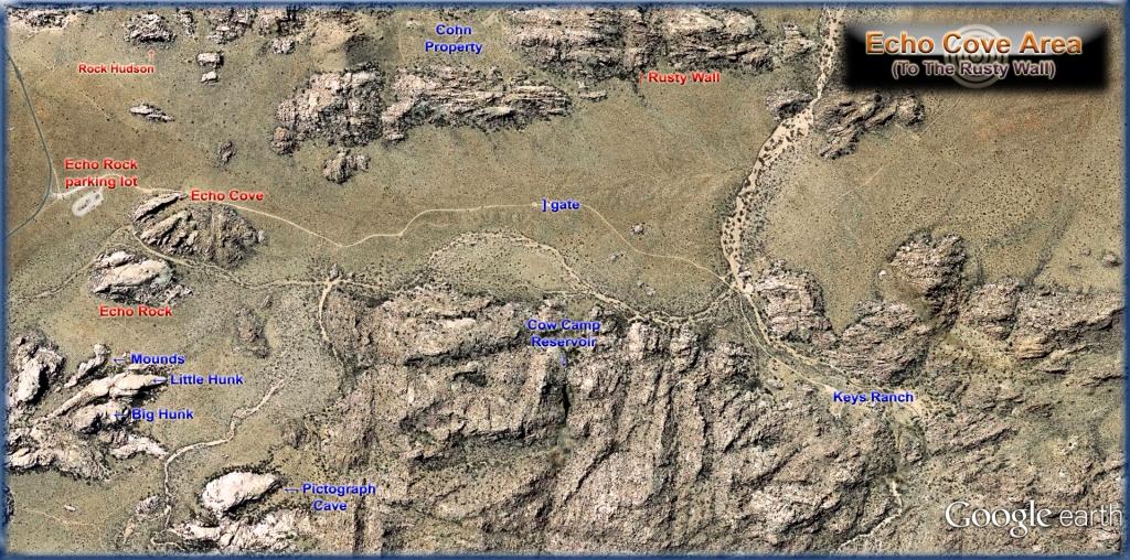 Echo Rock area 02 to Rusty Wall