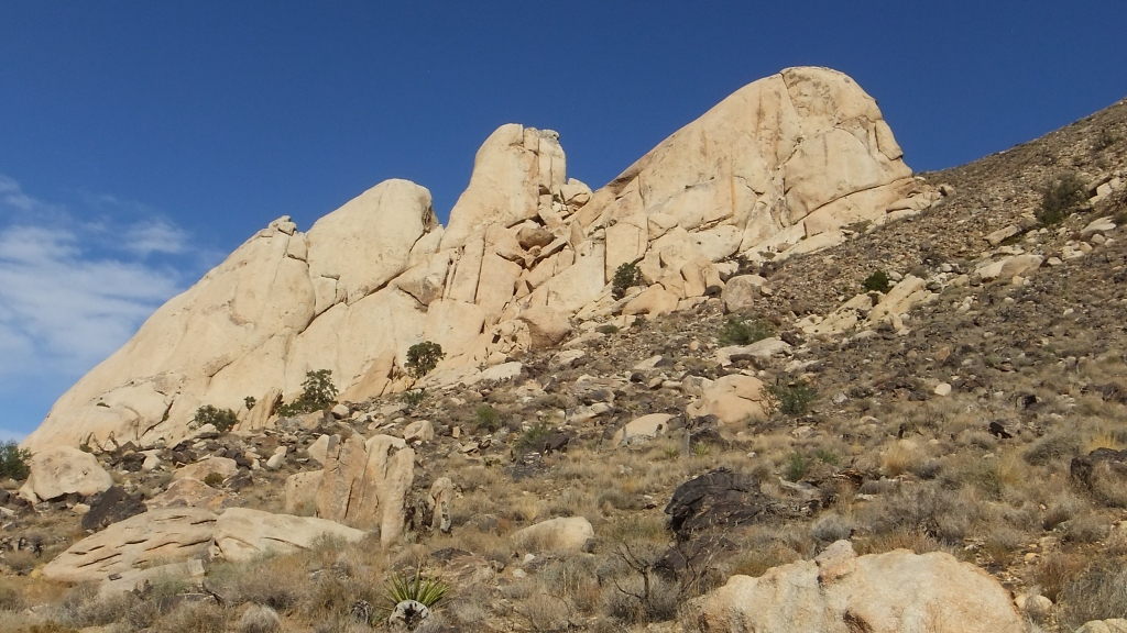 Saddle Rocks, south face, seen Cowboy Crags