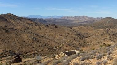 View of Lost Horse Valley with San Gorgonio back left