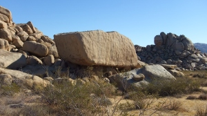Rock Sculpture Boulder Joshua Tree NP