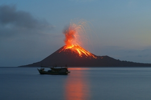 "Anak Krakatau (""Son of Krakatoa), erupts 2012"