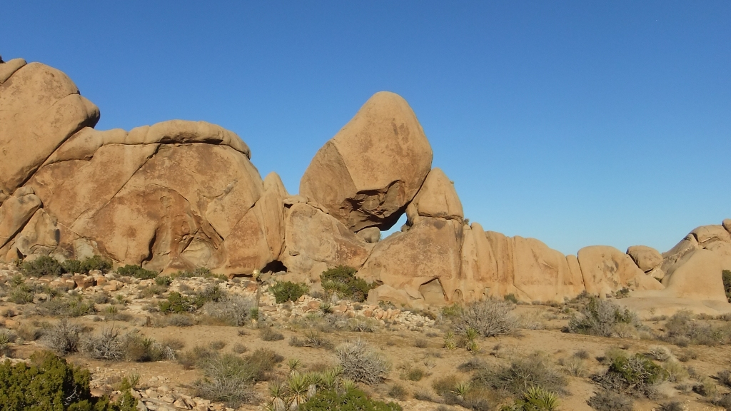 Unusual leaning rock